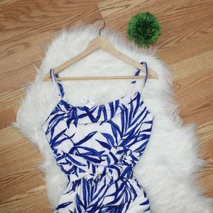 Ann Taylor Blue Leaf Waist Tie Dress M NWT